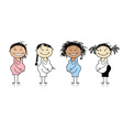Happy pregnant women waiting for babies vector image