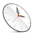 Abstract Clock Isolated on White vector image