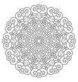 adult coloring book spiral mandala black and white vector image