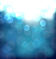 Blurry blue vibrant background vector image