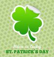 Four-leaf clover sticker vector image
