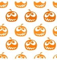 Halloween pumpkin seamless background vector image