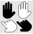 Hands set vector image