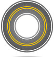 Highway in a circle with asphalt texture vector image