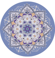 lilac-blue mandala vector image