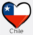 love Chile flag vector image