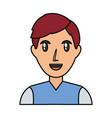 man smiling profile vector image