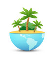 nature landscape of tropical island vector image