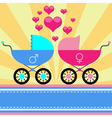 stroller for baby vector image
