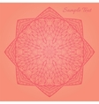 Abstract background with a beautiful arabesque vector image