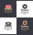 vintage logos donuts vector image