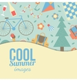 Summertime vacations and traveling background vector image