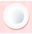 White Paper Plate Isolated on pink Background vector image