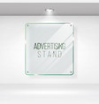 advertising stand glass realistic glass on vector image