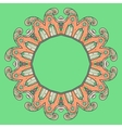 Circular ornament design vector image