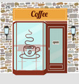 Coffee shop facade vector image