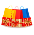 collection of holiday shopping bags and gift boxes vector image