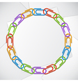 Color clips frame vector image