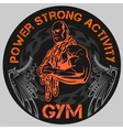 GYM Bodybuilding - emblem vector image