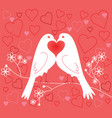 lovebirds valentines day vector image