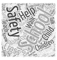 Safety Helps Word Cloud Concept vector image