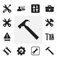 set of 12 editable tool icons includes symbols vector image