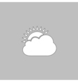 sun and cloud computer symbol vector image