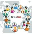 We are the one team vector image