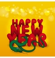 New Years card with snake vector image vector image