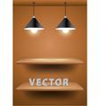 Empty shelf for exhibit vector image vector image