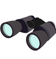 Grey binocular vector image