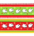 ornament with sheeps vector image vector image