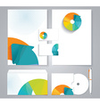 Corporate identity business set design with vector image vector image