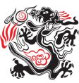 black and red dragon vector image vector image