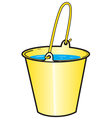 Yellow bucket with water vector image vector image