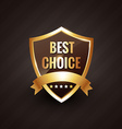 best choice golden label symbol design vector image