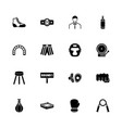 boxing and fighting - flat icons vector image