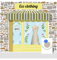 eco clothing shop organic clothes store vector image