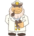 Marine Captain In Dress Clothes vector image