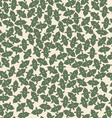Seamless background pattern with mint leaves vector image