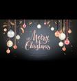 very beautiful christmas balls vector image