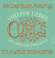 vintage label curls poster vector image