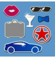 set images of male attributes vector image vector image
