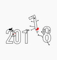 2018 new year for greeting card vector image