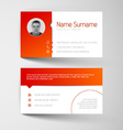 Modern white and red business card template vector image
