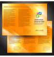 brochure folder colorful design orange vector image vector image