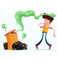 stinky garbage vector image