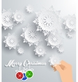 Snowflakes Background Merry Christmas vector image