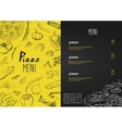 Pizza menu the names of dishes of Pizza vector image