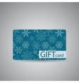 Abstract Beautiful Winter Christmas Gift Card vector image
